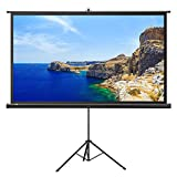Projector Screen with Stand, TaoTronics Indoor and Outdoor Movie Screen 100 Inch Diagonal 16:9 with a Premium PVC Matte Design (Wrinkle-Free, Easy to Clean, 1.1 Gain, 160 Degree Viewing Angle)