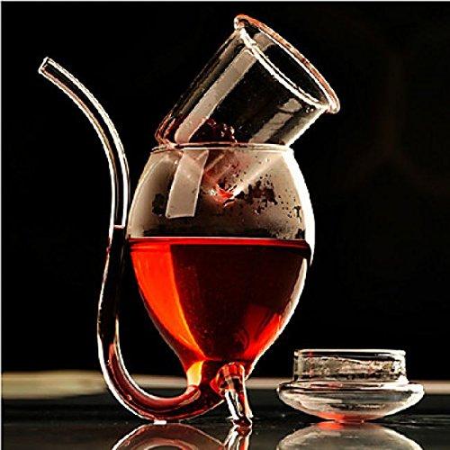 Lookshop Verre à cocktail avec paille intégrée en verre 300 ml