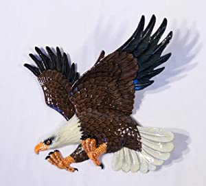 Hand Painted Bald American Eagle Wall Mount