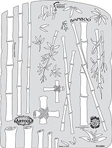 Artool Freehand Airbrush Templates, Kanji Master Bamboo