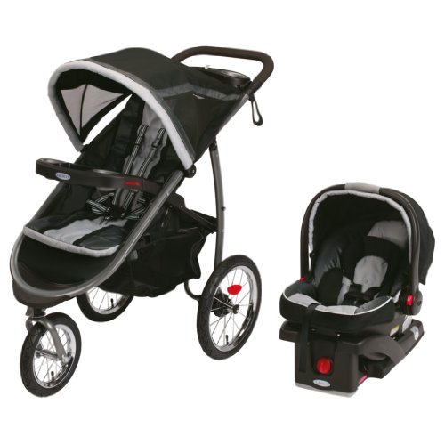 New Graco FastAction Fold Jogger Click Connect Travel System, Gotham
