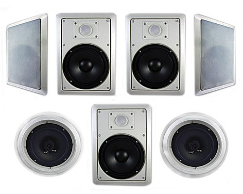 Acoustic Audio Ht-87 7.1 Home Theater Speaker System (White, 7)