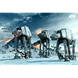 1 X Posters: Star Wars Poster - AT-AT Walkers In The Frozen Hoth Landscape (36 x 24 inches)