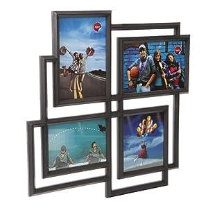 Mondrian multiple x4 black frame