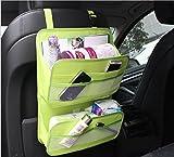 Showkoo Asiento trasero del coche Organizador protector de la cubierta y la bolsa de almacenamiento de archivos en la revista Documento Organizador bolso colgante (Verde)
