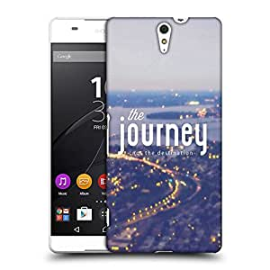 Snoogg The journey matters Designer Protective Back Case Cover For Sony Xperia C5 Ultra