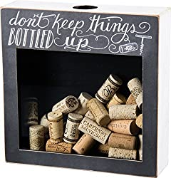 Primitives by Kathy Cork & Cap Holder 'DON'T KEEP THINGS BOTTLED UP'