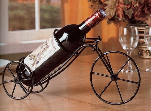 Coaster Home Furnishings 900033 Bicycle Shaped Tabletop Wine Bottle Holder