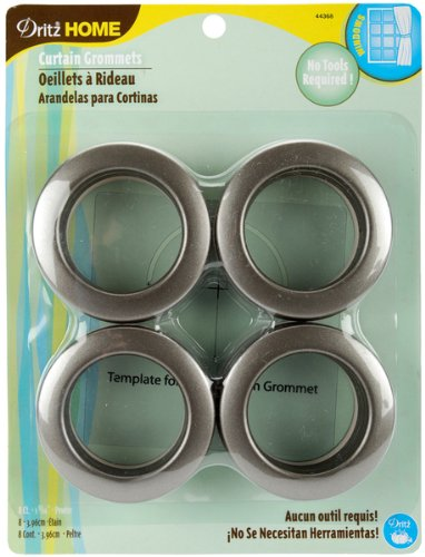 Curtain Grommets 8/Pkg-Pewter