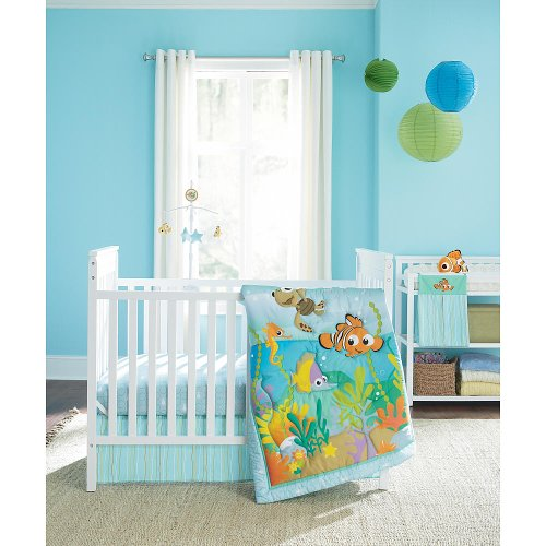 Disney Baby Finding Nemo 4-Piece Crib Bedding Set - 1