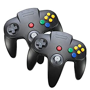 Set of 2, Optimum Nintendo 64 Game System Controllers Wired N64 Gamepad Joysticks