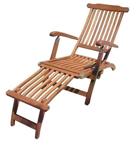 Gartenliege Deckchair mehrfach verstellbar FSC-Holz geölt