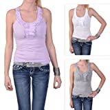 Hailey Jeans Co Juniors Knit Ruffled Tank Top