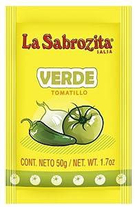 La Sabrozita Homestyle Tomatillo Salsa (Salsa Verde), 1.7-Ounce Bags (Pack of 250) from La Sabrozita