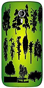 Snoogg 14 plants silhouettes Designer Protective Back Case Cover For Micromax A117