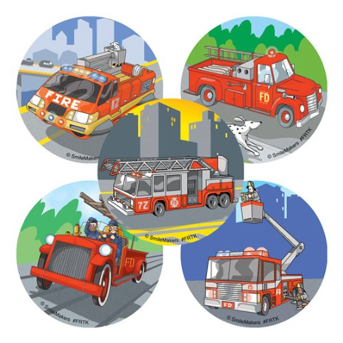 100 - Fire Trucks Stickers