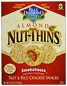 Blue Diamond Nut Thins Smokehouse, 4.25 Ounce Boxes (Pack of 12)