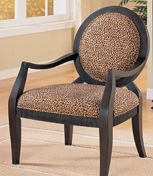 Sophia's Galleria Home Decor Leopard Print Accent Chair