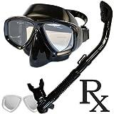 Prescription Purge Mask Dry Snorkel Snorkeling Scuba Diving Combo Set