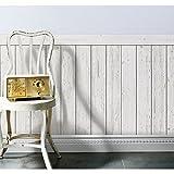 貼ってはがせる壁紙 腰壁 shabby wood フリース壁紙 白木目  Jebrille Wallpaper JTF1017