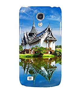 beautifull country side view of a building 3D Hard Polycarbonate Designer Back Case Cover for Samsung Galaxy S4 Mini :: Samsung Galaxy S4 Mini i9190