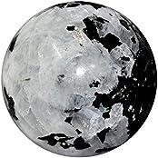 Satyamani Natural Rainbow Moonstone Gemstone Ball For Reiki Chakra Vasstu And Space Healing