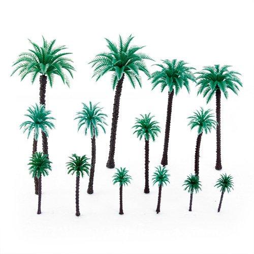 14-Stck-19-Zoll-66-Zoll-Modell-Coconut-Palmen-Layout-Zug-Mastab-150