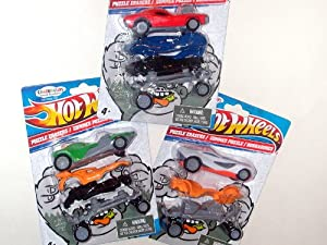 Hot Wheels Crazerasers ~ 3 Pack Set (2 Urban Agents, 2 Twin Mills, Howlin' Heat, Roger Dodger)