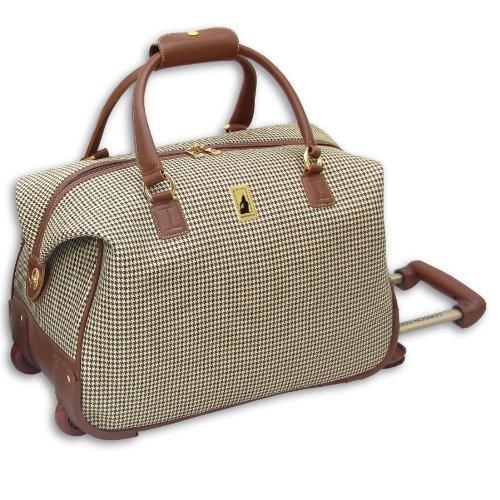 london-fog-luggage-chelsea-20-inch-wheeled-club-bag-olive-plaid-one-size