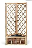 Pflanzkasten 3-eckig 50 x 39 cm Dreieck-Blumenkasten mit Weidengeflecht