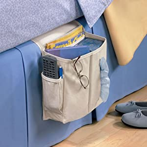 Sidekick Home Organizer Bedside/Arm Chair Caddy, Light Khaki