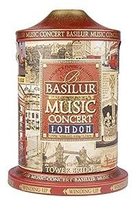 Basilur Pure Ceylon Black Tea with Cornflower, Blue Malva, Ginger Personal Collection 'Music Concert London' in Metal Caddy, 100 Gr