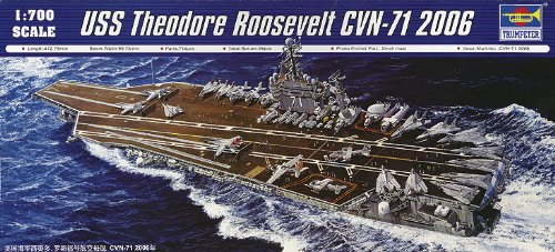Trumpeter 1/700 USS Theodore Roosevelt CVN71 Aircraft Carrier 2006 Model Kit (Aircraft Carrier Model Kits compare prices)