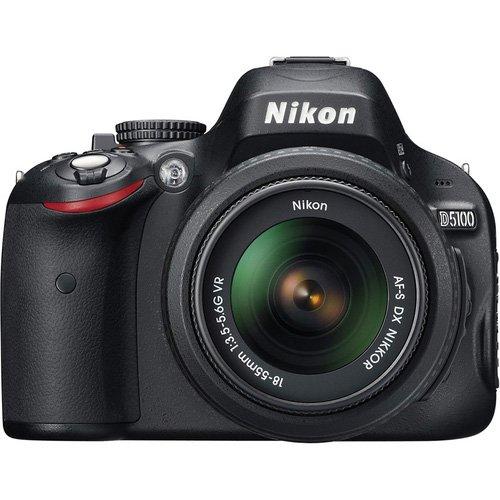 Nikon D5100 Digital Slr Camera & 18-55Mm G Vr Dx Af-S Zoom Lens With 16Gb Card + .45X Wide Angle & 2.5X Telephoto Lenses + Remote + Filter + Tripod + Accessory Kit