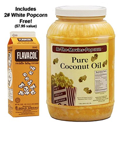 Coconut Popcorn Popping Oil (Gallon) & Flavocol Combo (Yellow Coconut Oil) (Popcorn Topping Oil compare prices)
