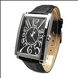 [Alessandra Olla]アレサンドラオーラ 腕時計 レクタンギュラー オールブラック AO-4500-BK メンズ 【正規輸入品】