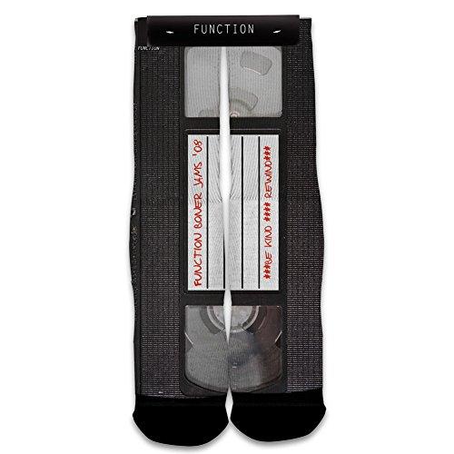 Function - Vintage VHS Tape Printed Sock