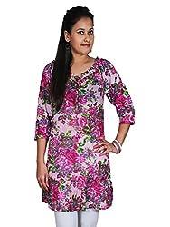 Flower Print Women's Tunic/ Women's Flower Print Tunic/Dress/top By Polita/ Designer Tunic For Women's,Ladies, Girls