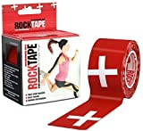 RockTape Kinesiology Tape for Athletes - 2-Inch x 16.4-Feet (Swiss)