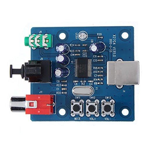 Beautyforall Pcm2704 Usb Dac Usb To Spdif Sound Card Analog Output Decoder Board