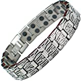 MPS® Double Strength Titanium Magnetic Bracelet with Powerful 3,000 gauss Rare Earth Magnets + Free Gift Wallet #N-BRTD-7-2XS-MJUK