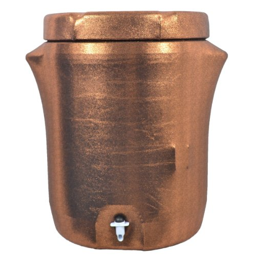 Party Cooler Cover, 10 Gallon Drink Dispenser - Copper Metallic (Drink Cooler Gallon compare prices)