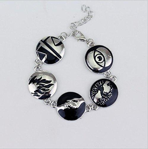 Allegiant, divergent, insurgent themed bracelet,Divergent Inspired Dauntless Erudite Candor Amity Abnegation Charm Bracelet