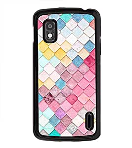 Fuson Premium 2D Back Case Cover Colourful pattern With pink Background Degined For LG Google Nexus 4