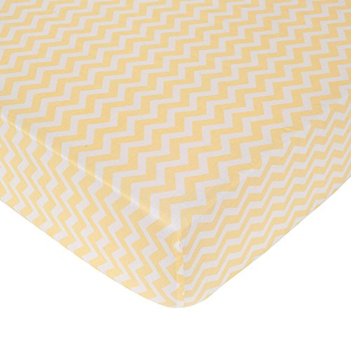 Carter's Zig Zag Crib Fitted Sheet, Yellow (Discontinued by Manufacturer)