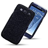 SAMSUNG GALAXY S3 SIII DIAMANTE DISCO BLING BACK COVER BY CELLAPOD CASES FULL BLACKby CELLAPOD