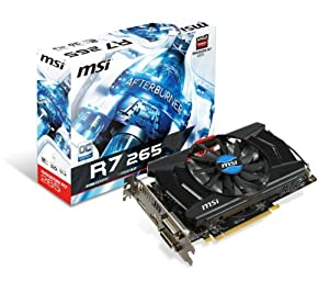 MSI AMD Radeon R7 265, 2GB GDDR5, PCI Express 3.0 Graphics Card R7 265 2GD5 OC by MSI COMPUTER