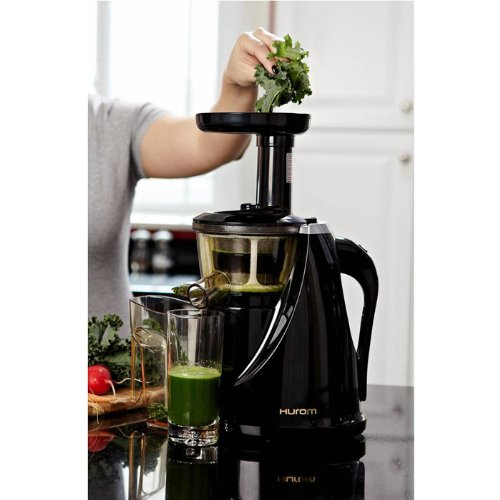 Hurom Slow Juicer Model HU-100B New Black with Cookbook