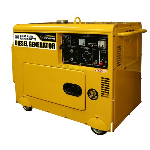 51z1%2B%2BVLscL. SL500  Pro Series GENSD7 7,000 Watt 9 HP 418 CC Self Excited, 2 Pole, Single Phase Quiet Diesel Portable Generator With Electric Start