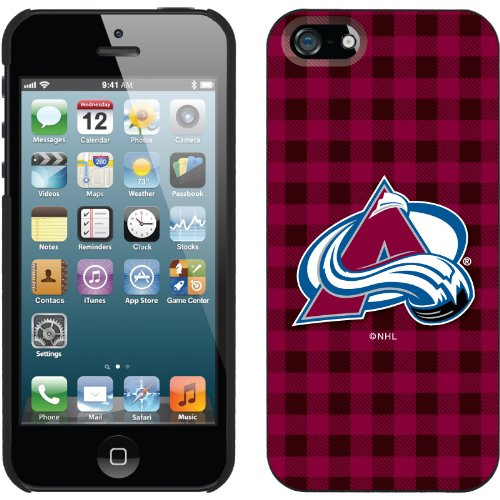 Special Sale Colorado Avalanche« - Plaid design on a Black iPhone 5s / 5 Thinshield Snap-On Case by Coveroo